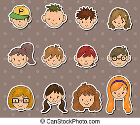 young people face stickers