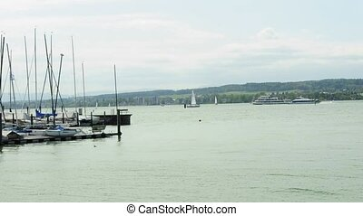 lake Bodensee ferry and harbor