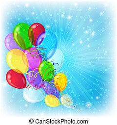 Holiday background with balloons - Holiday background,...