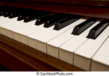 Music Instruments - Piano  - Old Piano keyboards.
