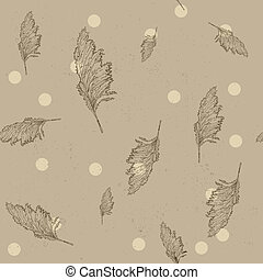 Vintage seamless texture with cane Vector illustration EPS8