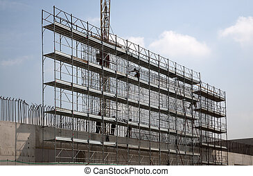 Workers on scaffolding
