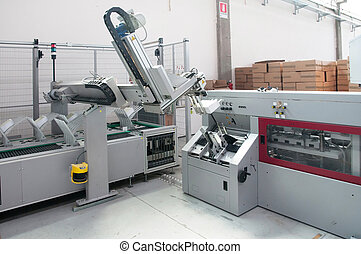 Print shop - Finishing line - Post press finishing line...