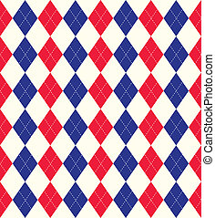Jubilee colours argyle background - Seamless tiled...