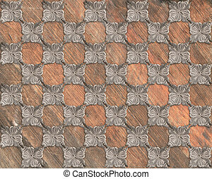 Faux Grunge Wood Marquetry #30 - Vintage and well worn wood...