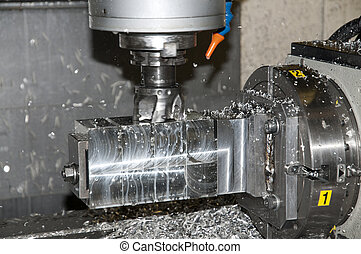 Drilling and milling CNC in workshop - CNC drilling and...