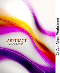 Abstract purple wave background - Burred abstract purple...