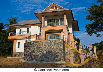 Beautiful country house in island oh Samui, Thailand.