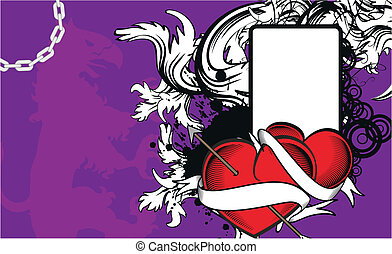 heraldic heart arrow crest backgr10 - heraldic heart arrow...