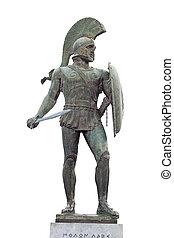griego, antiguo, guerrero
