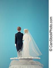 boda, pastel, Muñecas