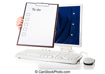 Reminding to do list - A man is holding to do list from...