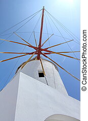 Windmill, Santorini, Greece