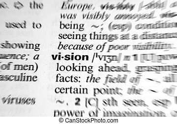 dictionary word vision - zoom effect