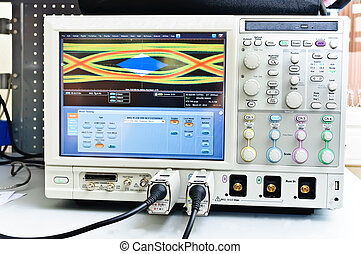 The digital oscilloscope Close-up Photos