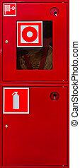 Fire prevention shield. Close-up Photos
