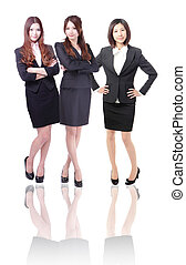 Group Of three Business women in full length