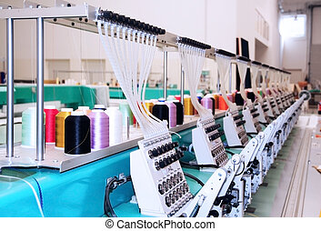 Textile Plant - Textile: Industrial Embroidery Machine