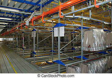 Automatic clothing warehouse - Italian clothing factory -...