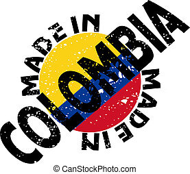 Made in Colombia - vector label Made in Colombia