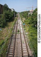 Train tracks - Milan, Italy