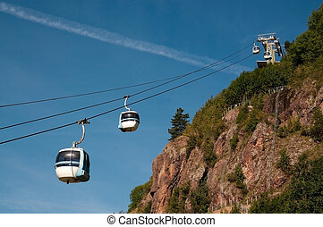 Aerial tramway (cable car) - Cermis, Cavalese, Italy - Cable...