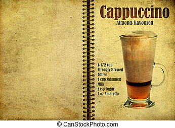 Cappuccino recipe - Old,vintage or grunge Spiral Recipe...