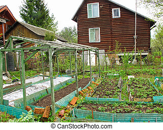 spring kitchen garden - The image of spring kitchen garden