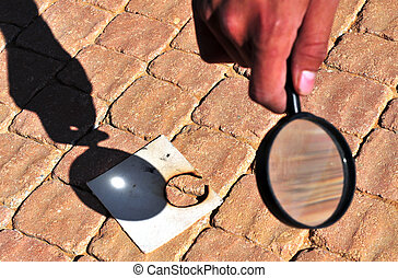 Magnifying Glass - Lighting a fire with a magnifying glass