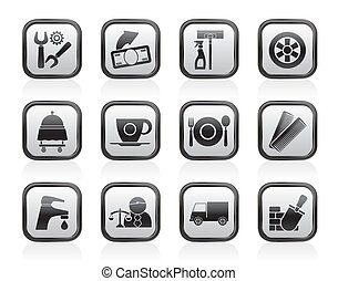 Services and business icons