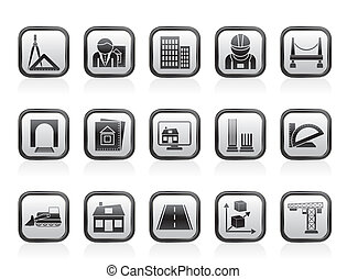 architecture and construction icons - vector icon set