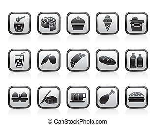 Food and Drink icons - Dairy Products - Food and Drink icons...