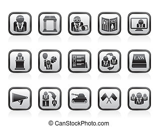 Politics and election icons - Politics, election and...
