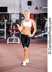 young fitness woman doing workout