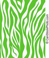 Seamless Zebra Stripes in Green