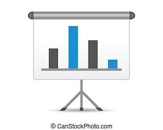 abstract chart icon vector illustration