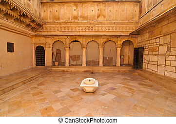 Royal palace courtyard - The royal courtyard of the...
