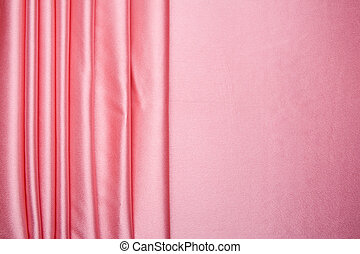 Pink satin stripes pattern - The blue satin is arranged in...
