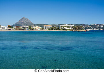Javea bay with the Montgo in the background