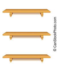 Oak Wood Shelves
