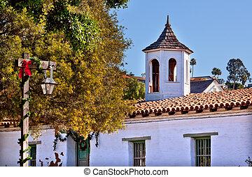 Casa de Estudillo Old San Diego Town Roof Cupola California...