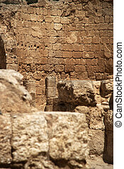 Ancient ruins of king herod's palace and fortress in israel