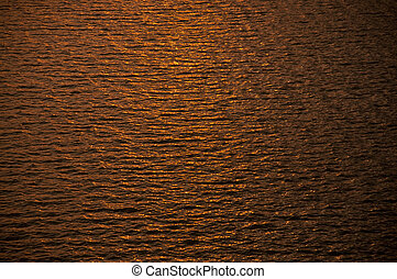 ripples in gold water