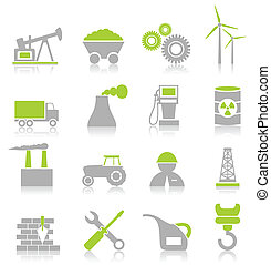 Industrial icons7 - Set of icons on a theme the industry A...