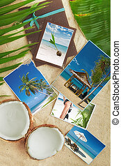 collage - Tropic beach theme collage composed of few photos