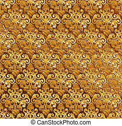 Golden ornamental background.