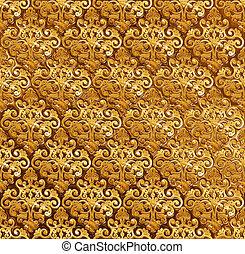 Golden ornamental background.