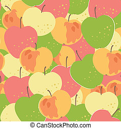 different apples seamless ornament - apples seamless...