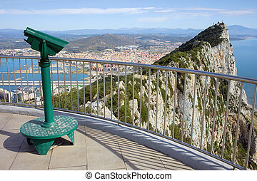 Gribraltar Vantage Point - Gibraltar rock vantage point on...