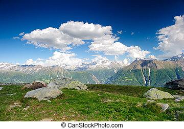 mountain panorama from fiescheralp